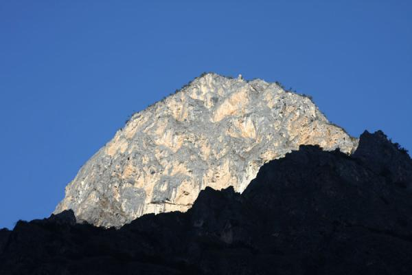 Picture of Morning light falling on a peak of the Haba Snow Mountain range