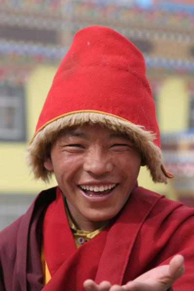 Friendly monk at Trangu monastery | Trangu monastery | China