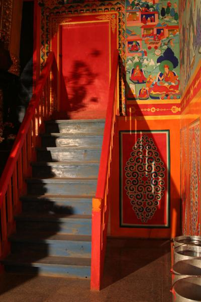 Corner with stairs at Trangu monastery | Trangu monastery | China