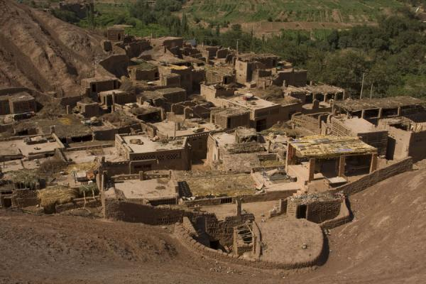 Picture of Tuyoq Old Town (China): Part of Tuyoq seen from a hill