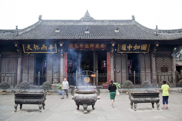Photo de One of the halls in the central section of Wenshu monasteryChengdu - Chine