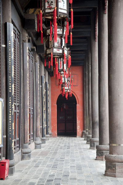 Picture of The front side of one of the main halls of Wenshu monasteryChengdu - China