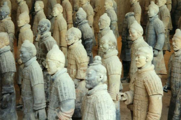 Picture of Xian terracotta warriors in close-up