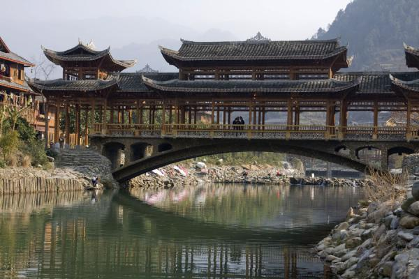 Bridge over the river | Xijiang | China