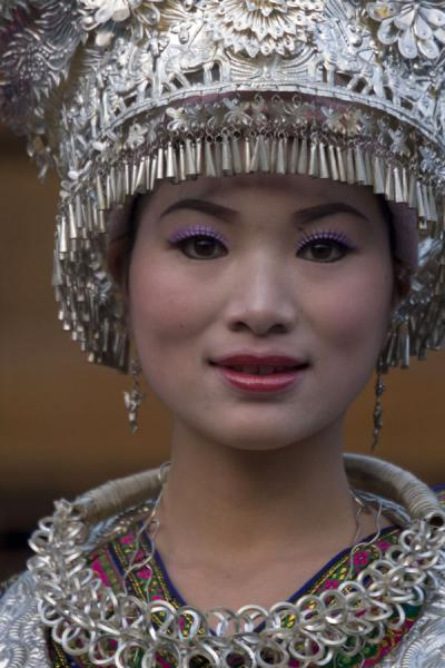 Miao woman in performance in Xijiang village | Xijiang | China