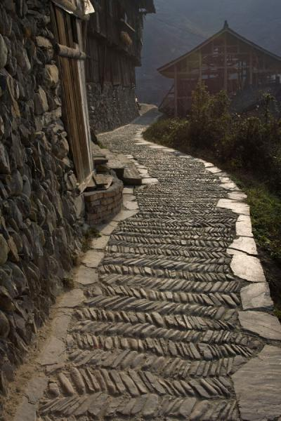 Photograph of One of the narrow streets of Xijiang - China - Asia
