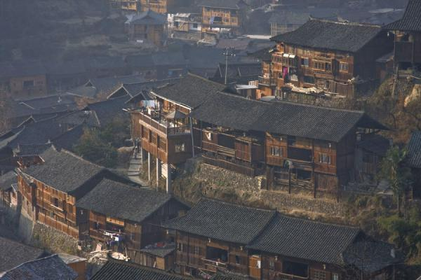 Some of the houses of Xijiang seen from above | Xijiang | China