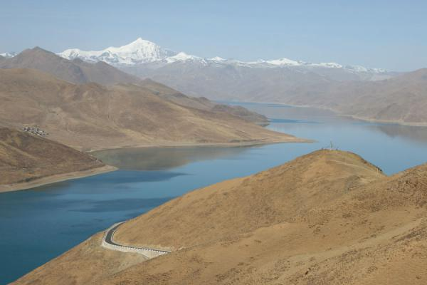 Yamdrok Tso seen from Kamba La Pass | Yamdrok Lake | China