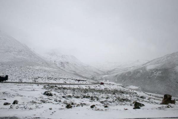 Picture of Winter landscape on Zheduo pass: an early winter in September