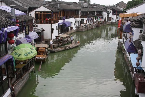 Picture of Canal in Zhujiajiao with shops and restaurants