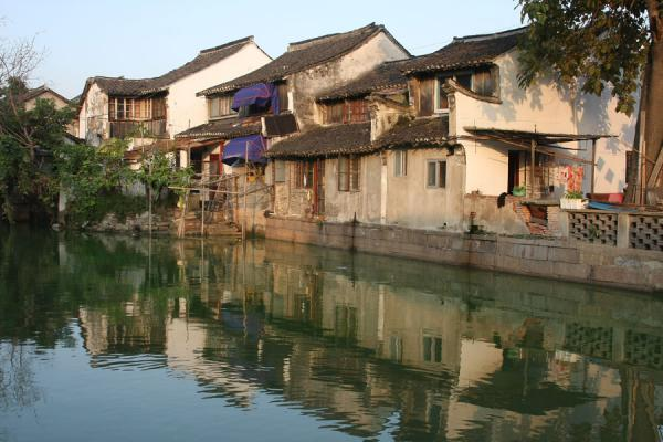 Old houses on one of the canals of Zhujiajiao | Zhujiajiao Canal Town | China