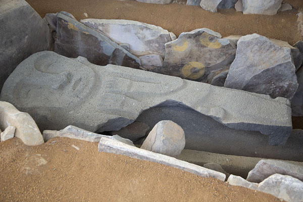 Lid of a sarcophagus in the shape of a human | Alto de los Ídolos | 哥伦比亚