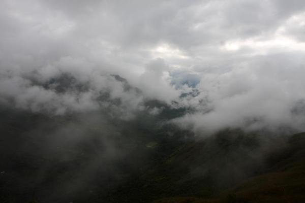 Picture of Valley with clouds seen from El Aguacate