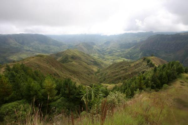 Landscape seen from the top of El Aguacate | Alto Aguacate tombs | Colombia