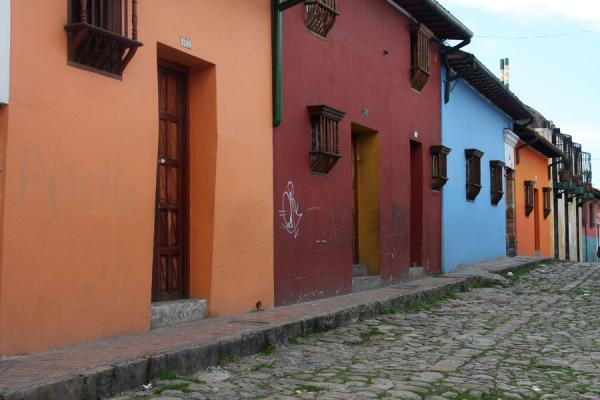 Picture of La Candelaria (Colombia): Street with colourful houses in La Candelaria