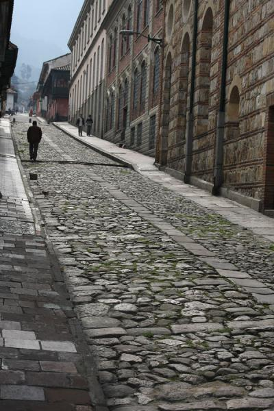 One of the cobble stone streets of La Candelaria | La Candelaria | Colombia