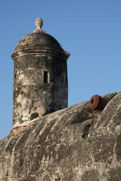 Turret in the defensive wall around the city of Cartagena | Cartagena de Indias | Colombia