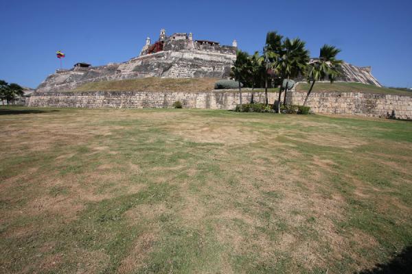 Castillo San Felipe de Barajas seen from a distance | Castillo San Felipe de Barajas | Colombia