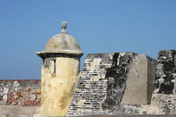 Picture of Turret with pineapple on the top of the San Felipe de Barajas fortress