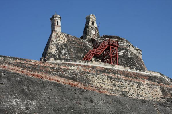 Fortress of San Felipe on top of the defensive structure | Castillo San Felipe de Barajas | Colombia
