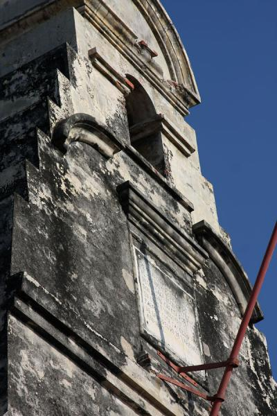 Picture of Close-up of the belfry of the Castillo San Felipe