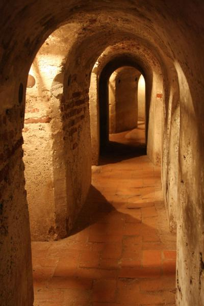 One of the many tunnels inside the fortress | Castillo San Felipe de Barajas | Colombia