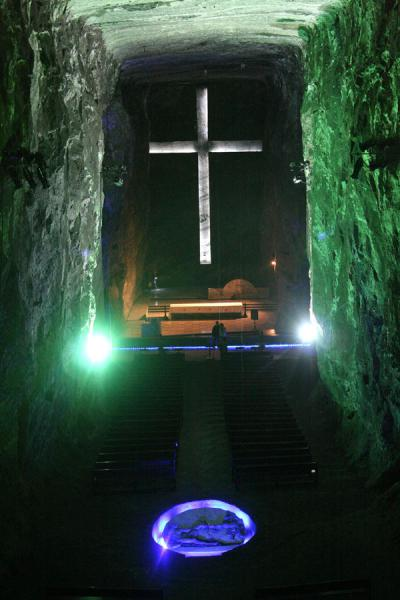 Central nave of the Salt Cathedral of Zipaquirá | Salt Cathedral of Zipaquirá | Colombia
