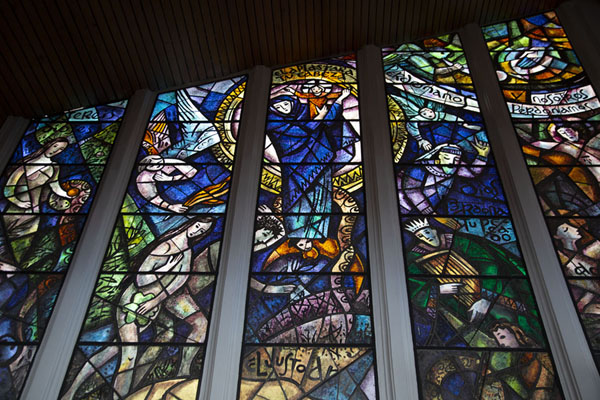 Stained glass windows in the Nuestro Señor de Monserrate church | Cerro Monserrate | Colombia