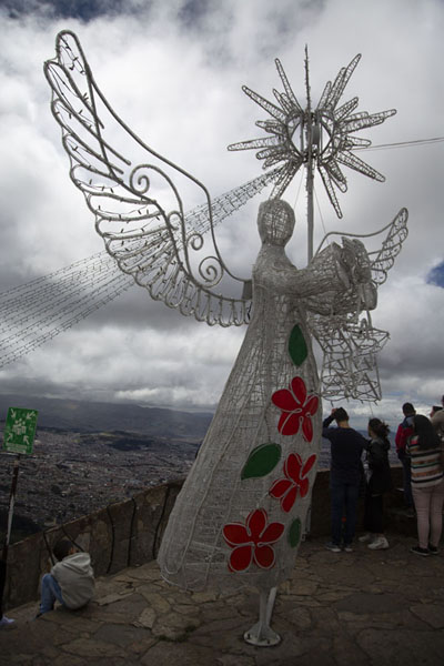 Angel on top of Cerro Monserrate | Cerro Monserrate | Colombie