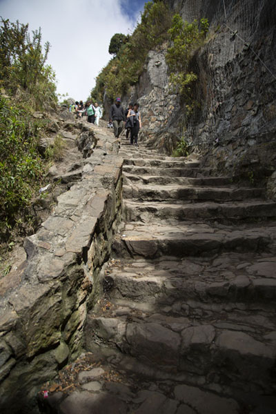 Much of the way up Monserrate is over stone stairs - 哥伦比亚 - 北美洲