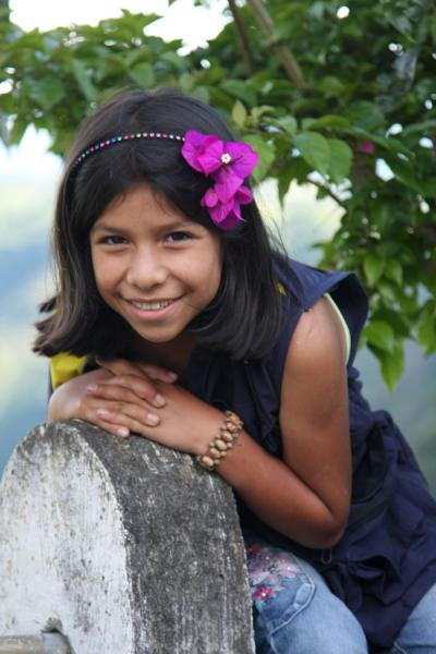 Young girl posing for a picture | Colombian people | Colombia