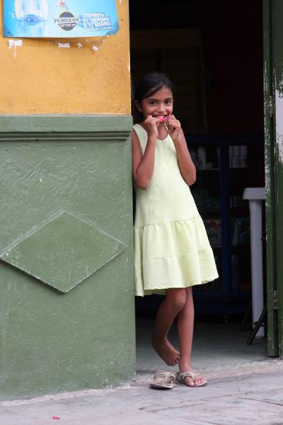 Colombian girl smiling at the photographer | Colombian people | Colombia