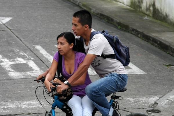 Couple on a bike | Colombian people | Colombia
