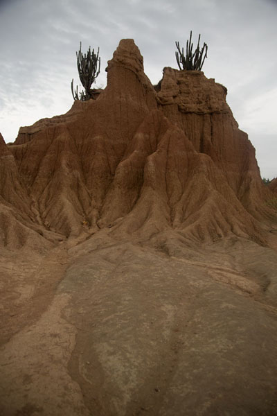 Foto van Looking up at the badlands with folds of the Desierto de la TatacoaTatacoa - Colombia