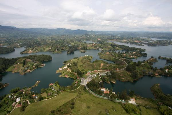 Embalse del Peñol seen from the top of the Peñón | El Peñón de Guatapé | Colombia
