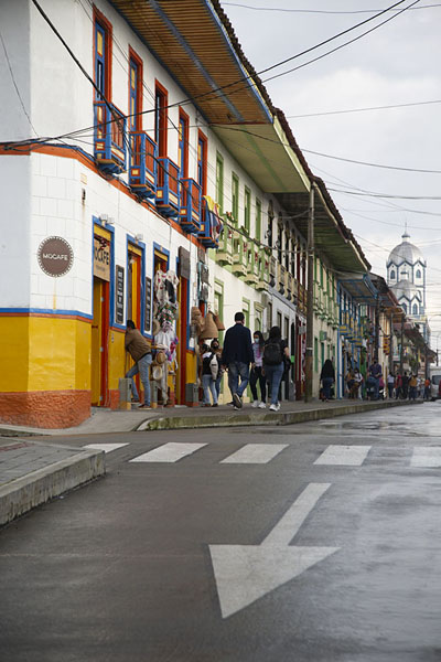 Foto di The main street of Filandia after some rainfallFilandia - Colombia
