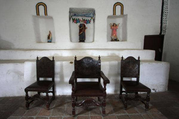 Chairs in the church of San Andrés de Pisimbalá | San Andrés de Pisimbalá church | Colombia