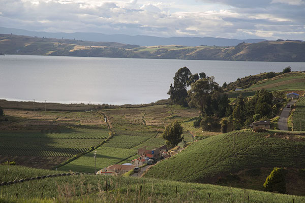 Lake Tota with surrounding landscape | Lago de Tota | Colombie