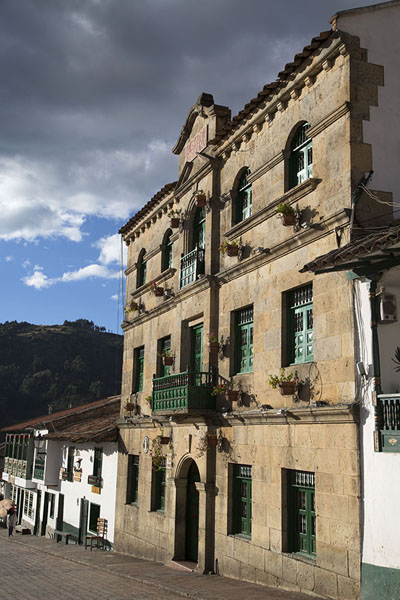 Picture of Casa de Gobierno of Monguí, at the northern side of the central square - Colombia - Americas