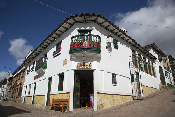 Traditional house at the corner of two streets in Monguí | Monguí | Colombia