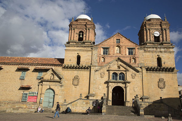 Picture of Looking up at the Basilica the Nuestra Señora de Monguí - Colombia - Americas
