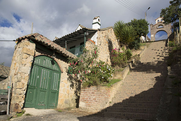 Street with stairs in the northern part of Monguí - 哥伦比亚 - 北美洲