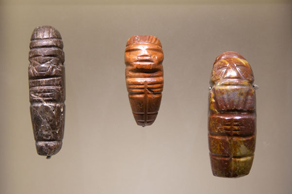 Small carved stones that were found all over the Sierra Nevada de Santa Marta | Museo del Oro Tairona | Colombia