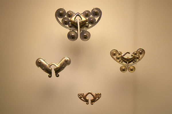 Jewellery on display in the Gold Museum of Santa Marta | Museo del Oro Tairona | Colombia
