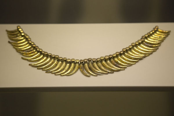 Gold necklace in the Gold Museum of Santa Marta | Museo del Oro Tairona | Colombia