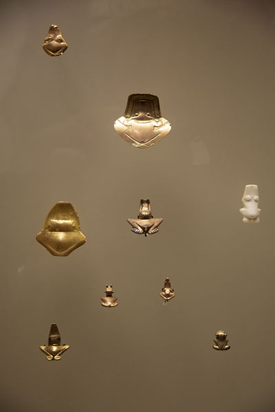Precious gold objects on display in the Gold Museum of Santa Marta | Museo del Oro Tairona | Colombia