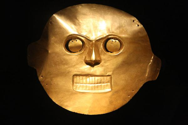 Golden mask in the Gold Museum | Museo del Oro | Colombia