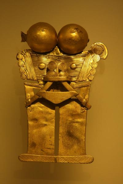 Golden artifact in the Gold Museum | Museo del Oro | Colombia