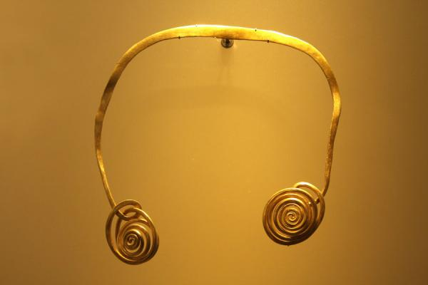 Golden ornament on display in the Gold Museum | Museo del Oro | Colombia