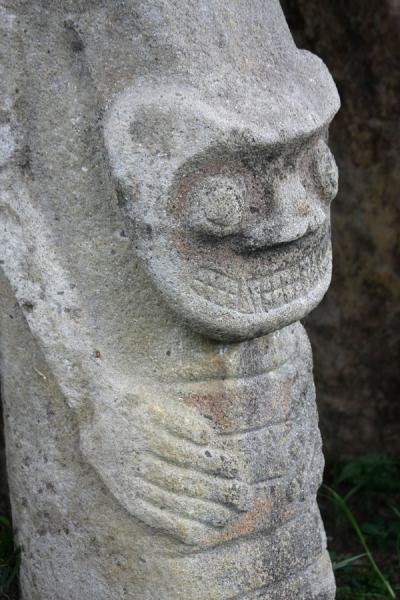 One of the many statues in mesita B | Archeological Park San Agustín | Colombia